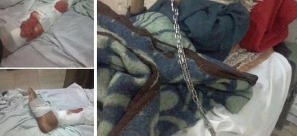 """مصدر كنسي: مجهولون يسحلون قبطيا بـ""""دلجا"""".. والشرطة تقيدة بالكلابشات في سرير المستشفى"""