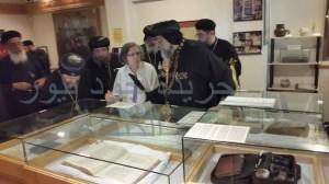 البابا يتفقد المتحف القبطي بكنيسة القديس مرقس بتورنتو