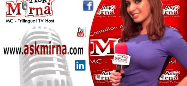 """المذيعة مرنا سرالدين ل """"جود نيوز"""": هدفي ربط الجاليات العربية ببعضها في كندا"""