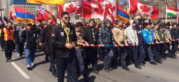 بالصور .. مسيرة بالألاف في تورنتو لإحياء ذكري مذبحة الأرمن