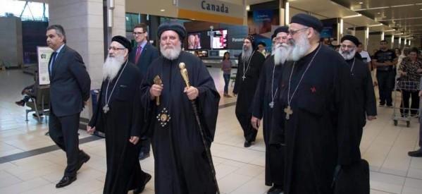 """بالصور..الأنبا إكليمنضس أسقف شرق كندا يصل """"أوتاوا"""" ويقابل السفير المصري"""