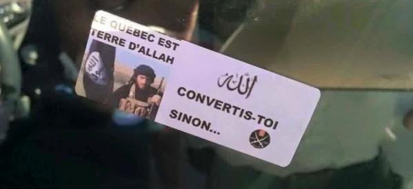 """مخاوف بكندا بعد إنتشار بوستر لداعشي وبجواره عبارة """"كيبيك هي أرض الإسلام .. تحولوا وإلا"""""""