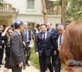 """بالصور..السفير """"أشرف منير"""" يُمثل الخارجية في مراسم إعادة أفتتاح السفارة الإسرائيلية بالقاهرة"""