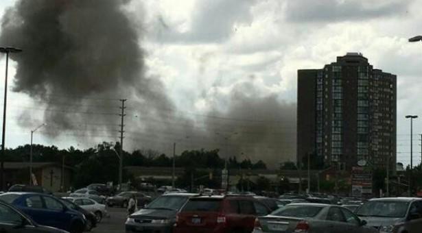 إنفجار ضخم في مسيسوجا يخلف قتيل و 9 جرحي ويدمر عدة منازل