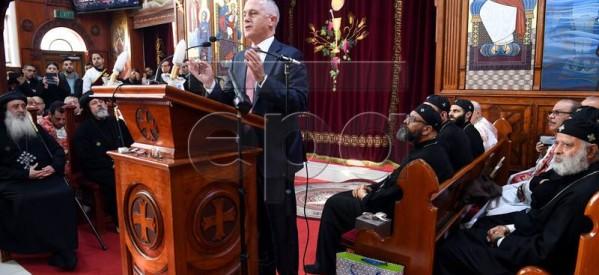 رئيس الوزراء الأسترالي يتضامن مع أقباط مصر أثناء زيارتة لكنيسة مار مرقس باستراليا