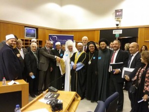 من داخل البرلمان الأوروبي، بعد القاء كلمته نيابة عن العالم الإسلامي