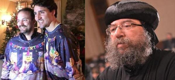 في قداس عيد الميلاد..الكنيسة القبطية بكندا تحتج رسمياً علي صورة رئيس الوزراء المسيئة للمسيح