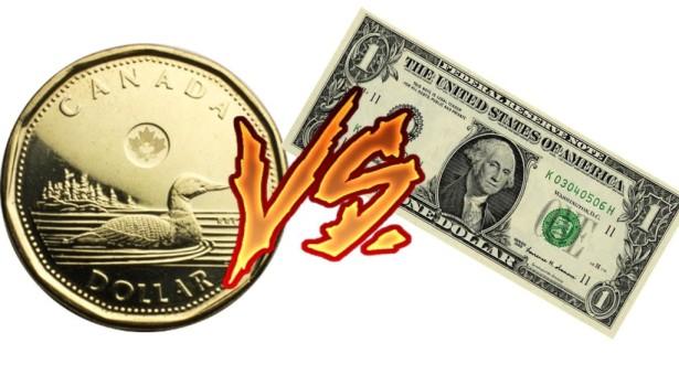 الدولار الكندي ينخفض الي أقل من ٧٧ سنت أمريكي