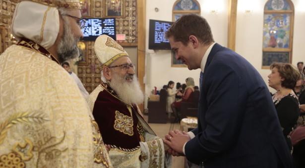 زعيم المعارضة الكندية يشارك الأقباط قداس عيد الميلاد: نعتز بالأقباط الذين إختاروا كندا كمكان للعيش ومساهمتهم ببلادنا