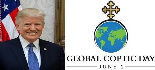 لأول مرة .. بدء الإحتفال باليوم القبطي العالمي في الأول من يونيو وترامب يرسل رسالة تهنئة للأقباط